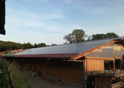 Instalacja fotowoltaiczne na dachu obory dla krów