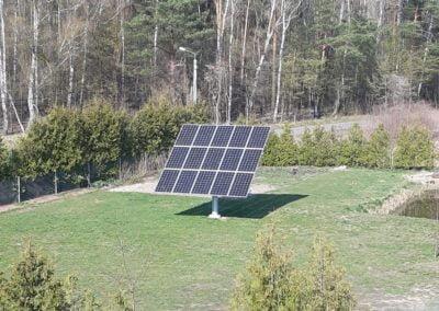 Nowoczesne elektrownie fotowoltaiczne zamontowane na trackerze