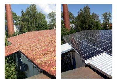 Wymiana pokrycia dachowego fotowoltaika
