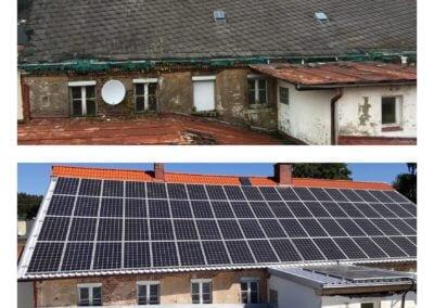 renowacja dachu z azbestu i montaż fotowoltaiki