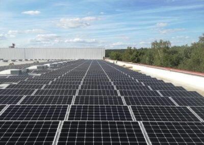Aerocompact konstrukcja wsporcza elektrowni słonecznej