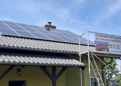 instalacja fotowoltaiczna na dachu w Karsinie w województwie pomorskim