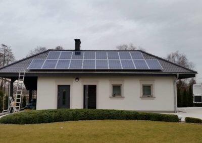 Fotowoltaika w na dachu garażu w wojwództwie Wielkopolskim